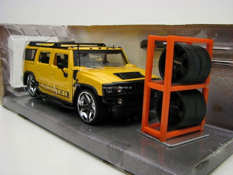Hummer H2 Just Trucks 2003 Yellow 1:24 Jada Toys
